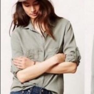 Anthropologie | Cloth and Stone Button Down Blouse